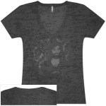 Women's Burnout Face V-Neck Tee