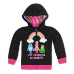 Yo Gabba Gabba! Toddler Pixel Rainbow Hoodie