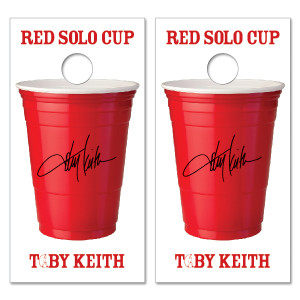 Toby Keith Red Solo Cup Cornhole Set