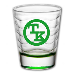 Toby Keith Green Logo Shot Glass