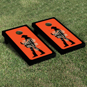 Toby Keith Shut Up & Hold On Cornhole Set