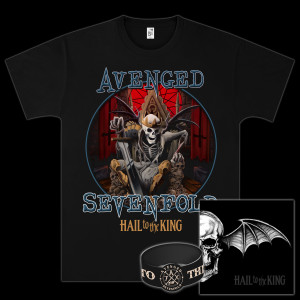 Avenged Sevenfold - Hail To The King Deluxe CD/T-Shirt Bundle