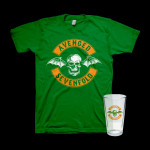 Avenged Sevenfold St. Paddy's Day T-Shirt + Pint Glass Bundle
