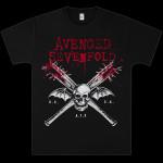 Avenged Sevenfold Bats on Black T-Shirt